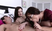 Slutty milf sucking cock