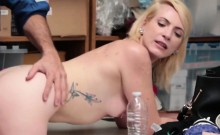 Busty blonde whore is having an orgasm from a hardcore fuck