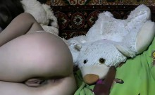 Cute amateur teen girl fingering her pussy on webcam