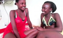 Amazing African Babes Enjoy Having A Hot Lesbian Action In