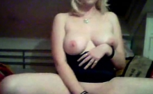 Webcam naughty chubby blonde masturbating her pussy
