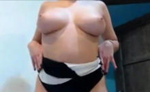 A Big Tit Milf Plays With Her Sexy Body On Webcam