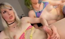 Hot Emo Sucks On Hot Blonde Shemale Dick