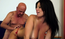 Grandpa Fucks A Big-titted Slut