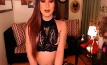 Sexy Asian Tranny Masturbating On Cam