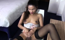 Hot Czech Chick Spreads Her Tight Twat To The Special58fol
