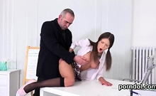 Sultry College Girl Was Tempted And Rode By Elderly Schoolte