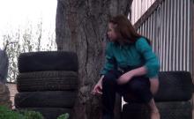 Naughty amateur teen has a voyeur fetish