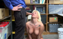 Hot Blonde Teen Daisy Lee shoplifting gets her fuck
