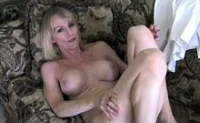 Older Blonde Melanie Skyy Rides Cock Like A Champ - Older