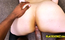 Huge black dick into white chick's pussy