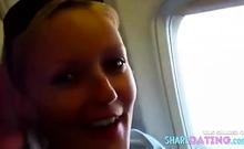 Blonde Blowjob In An Ariplane