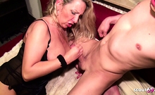 German MILF Bi Jenny let Young Boy made first Anal Sex