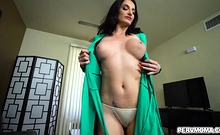Hot mom Silvia rides her stepsons cock