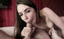 Hot Girl Slut Sucks A Cock And Ride It