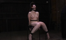 Hard teasing for beauty's teats and lusty bald love tunnel