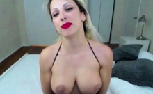 Hot FIT Blonde MILF with Big Tits Solo Masturbation