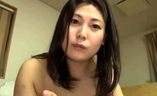 Big boobs Japanese girl gives BJ in car
