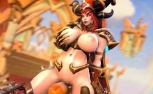World of Warcraft 3D Cartoon Sweet Girls Getting Fucked